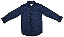 Zedd Boys' Cotton Shirt (E-C Zks1059D_22, Blue, 22)