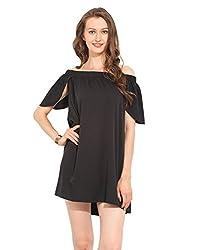Black Polyester Skater Dress Small