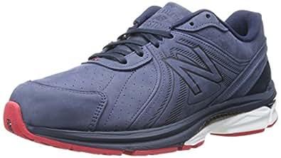 New Balance Men's M2040 Optimum Control Running Shoe,Navy/Red,7 D US