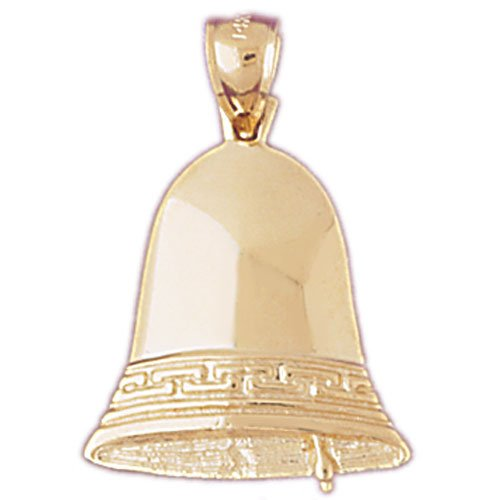 Necklace Obsession'S Yellow Gold-Plated 925 Silver 29Mm Liberty Bell Pendant Necklace