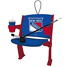 New York Rangers Official NHL 4 inch x 3 inch Stadium Seat Ornament by Evergreen