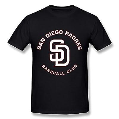 CaiTian Men's San Diego Padres Baseball Club Logo T-Shirt