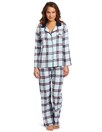 Tommy Hilfiger Women's Flannel Pajama Set, Arctic Plaid, Small
