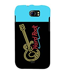 printtech LED Hard Rock Guitar Back Case Cover for Micromax Canvas 2 A110::Micromax Canvas 2 Plus A110Q