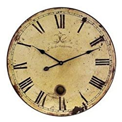 Schmuckbox 12 Vintage Large Wall Clock with Pendulum 12-Inches yellow£¬wooden wall clock Roman Numeral Design Hot¡­