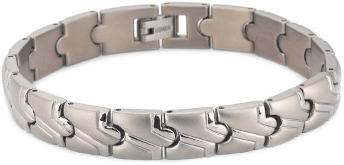 Matte and Polished Titanium 10mm Bracelet, 8