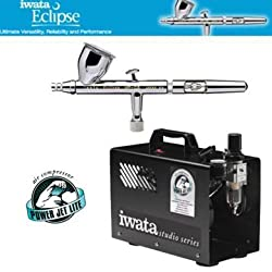 Iwata Eclipse HP-CS 4207 Airbrushing System with Power Jet Lite Air Compressor IS925