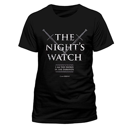 Game of Thrones Game Of Thrones - Nights Watch-T-shirt  Uomo    nero Medium
