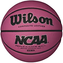 Wilson NCAA Replica Game Basketball, Pink, 28.5-Inch