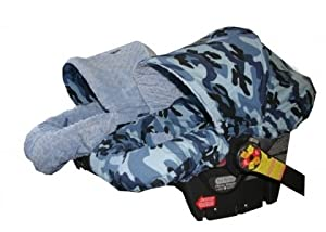 itzy ritzy baby ritzy rider in blue camo blue minky dot infant car seat cover. Black Bedroom Furniture Sets. Home Design Ideas