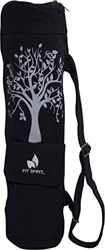 Fit Spirit Tree of Life Exercise Yoga Mat Bag w/ 2 Cargo Pockets – Choose Your Color (MAT IS NOT INCLUDED)