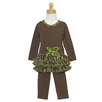 Isobella and Chloe Brown Tutu Pants Outfit Baby Girl 3M