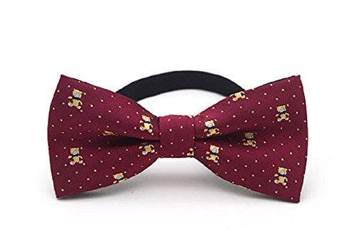 C.X Trendy Adjustable Boys Kids Bow Tie Cute Cartoon Bowties (M2 Red Bear) (Trendy Bow Ties compare prices)