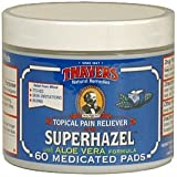 THAYERS -Super Hazel with Aloe Vera Formula, 60 Medicated Pads