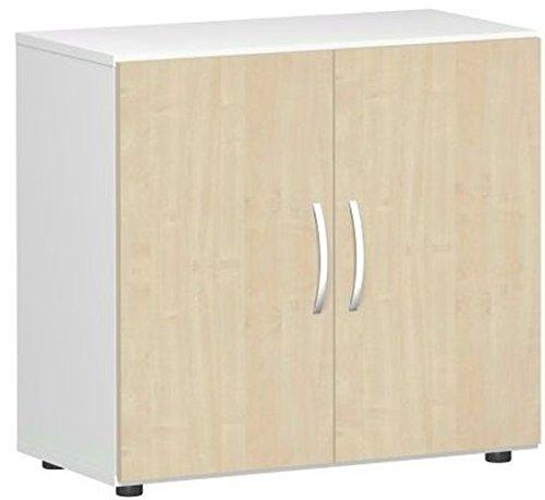 Ali porta armadio, ufficio, in legno, con piedini, con sordina, non richiudibile, 800x 420x 752, acero/bianco, Gera mobili