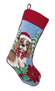 Cavalier King Charles Spaniel Needlepoint Dog Christmas Stocking