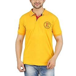 DKCLUES Men's Yellow Color Half Sleeve T-Shirts