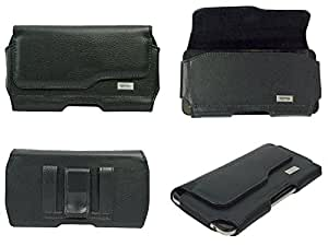 TOTTA Premium PU Leather Belt Pouch For Lenovo A5000 BLACK