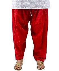 Neha Fashion Women's Regular Patiala Pant ( Red )