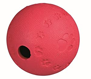 10 X Trixie Dog Activity Snack Ball, 9 cm (Various Colours) by Trixie