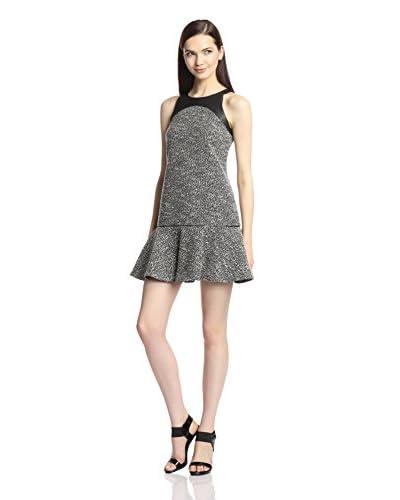 Jay Godfrey Women's Mick Dropped Waist Tweed Faux Leather Dress
