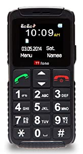 TTfone Dual 2 (TT59) Basic Simple Senior Mobile Phone with Big Buttons, SOS Button, Large Display, Dual Sim