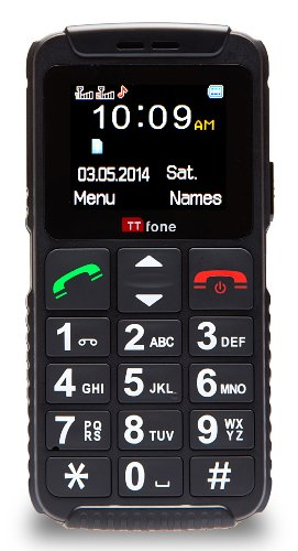 TTfone TT59 Dual 2 Telefono Cellulare con Tasti Grandi, Dual SIM, Nero