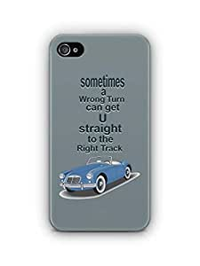 YuBingo Straight to the Right Track Mobile Case Back Cover for Apple iPhone 4