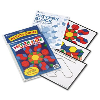 Intermediate Pattern Block Design Cards For Grades 2-6
