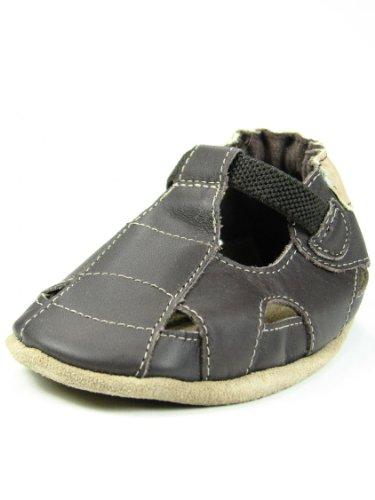 Robeez Soft Soles Sandal Crib Shoe (Infant/Toddler),Brown/Brown,18-24 Months (6.5-8 M Us Toddler)
