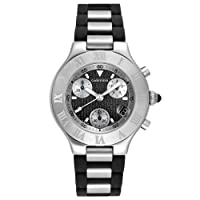 Cartier Men's W10125U2 Must 21 Chronoscaph Stainless Steel and Black Rubber Chronograph Watch by Cartier
