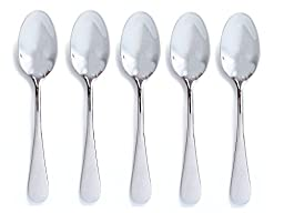 Best Baby Spoons - Set of 5 Baby Spoons - BPA Free - Perfect for Baby Shower Gift Baskets and Sets - The Best Spoons for Feeding New Babies - Highest Quality Mirror Polish Stainless Steel - More Affordable than Silver -Same Keepsake Quality - 100% Lifetim