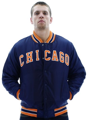 Escapism Chicago Men's Varsity Jacket Letterman Coat Blue Size L at Amazon.com