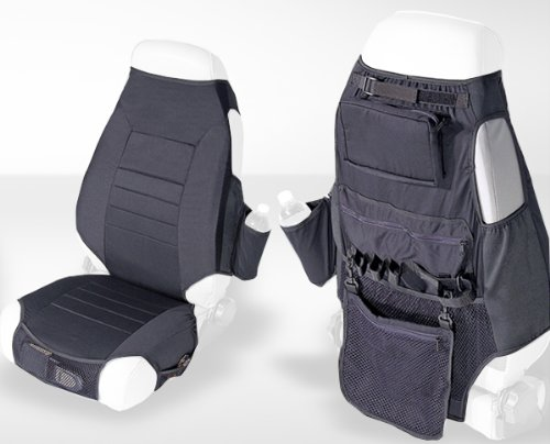Rugged Ridge 13235.01 Black Fabric Seat Protector With Storage - Pair front-942338