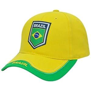 Amazon.com : Brazil Rhinox Brasil Cap Hat Gorra Soccer Futbol Football