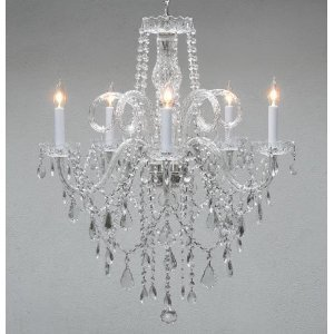 Authentic All Crystal Chandelier Chandeliers H30 X W24