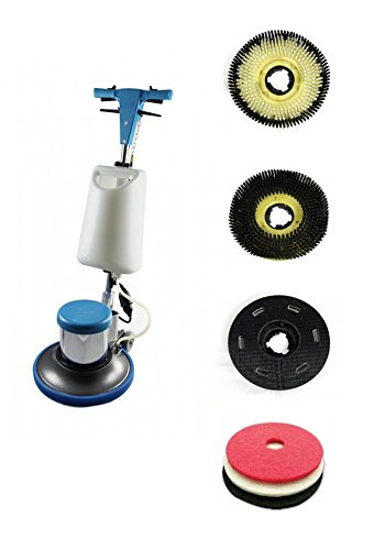 Industrial Floor Polisher Machine with (1 Tank + 2 Brushes + 1 Pad Holder + 3 Pads) ,1.5 HP (Industrial Floor Polisher compare prices)