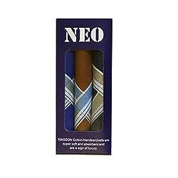 Magson Neo Handkerchiefs, Dark Shade, Pack of 3