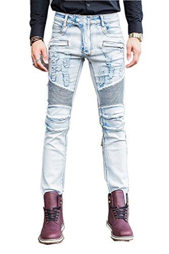 COUSIN CANAL Pantaloni di Jeans Slim Fit Skinny dritto per uomini ragazzi013 36