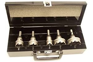 "Champion CT5-Set-1 Carbide Tipped Hole Cutter Set 3/16"" Thin Metal (7/8"", 1-1/8"", 1-3/8"", 1-3/4"", 2"")"