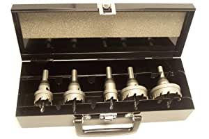 "Champion CT5-Set-1 Carbide Tipped Hole Cutter Set 3/16"" Thin Metal (7/8"", 1-1/8"", 1-3/8"", 1-3/4"", 2"")"