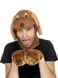 Uwant Fashion Instant Dog Kit Mens Animal Fancy Dress Costume Puppy Dog Outfit One Size