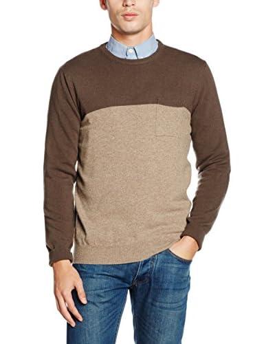 DEKKER Wollpullover grau/blau