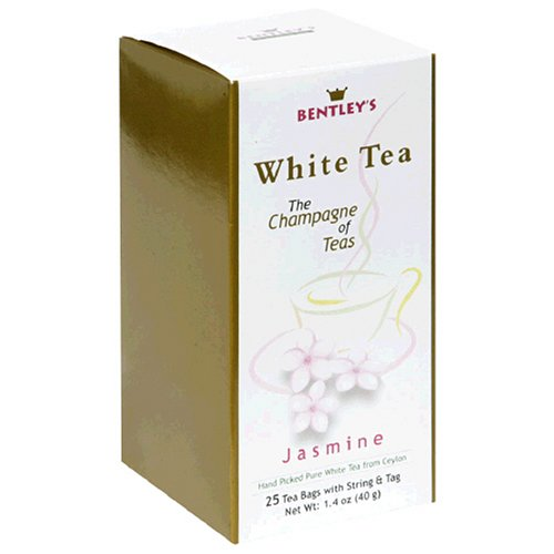 Buy Bentley's Jasmine White Tea, 25-Count Boxes (Pack of 4) (Bentley's, Health & Personal Care, Products, Food & Snacks, Beverages, Tea, White Teas)