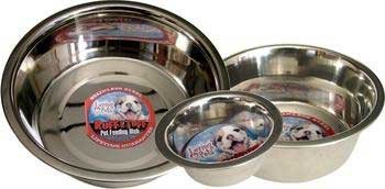 Loving Pets Dlv7202 Standard Stainless Steel Dog Bowl, 1-Quart