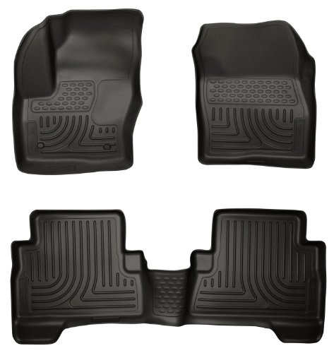 Husky Liners 99741 WeatherBeater Black Front and 2nd Seat Floor Liner (2015 Ford Escape Floor Liner compare prices)