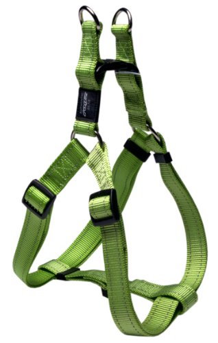 Rogz Utility Extra Large 1-Inch Reflective Lumberjack Adjustable Dog Step-in-Harness, Lime