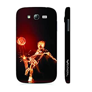 Samsung Galaxy Core Prime Football on Fire designer mobile hard shell case by Enthopia