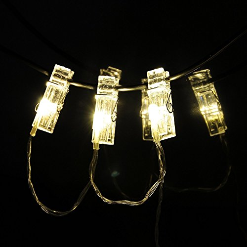 String Lights Photo Clips : 30 LED Photo Clips String Lights Indoor / Outdoor, Christmas Lights, USB Powered, 12 Ft, 30 LED ...