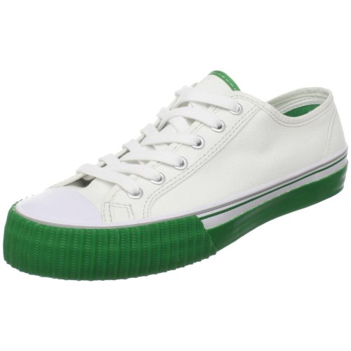 PF Flyers Center Lo Canvas Sneaker,White/Green,7 M US